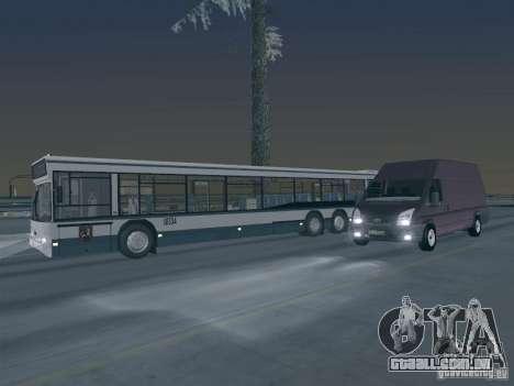 Ford Transit Jumbo 350L 2009 para GTA San Andreas vista superior