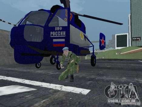 Ka-27 para GTA San Andreas esquerda vista