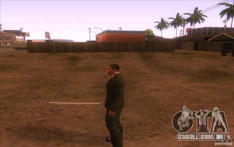 Katana para GTA San Andreas terceira tela