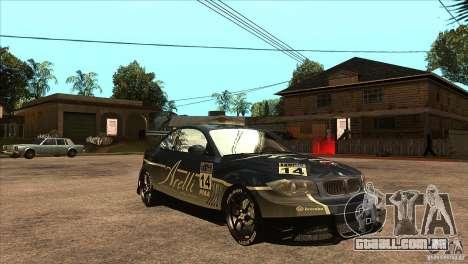 BMW 135i Coupe GP Edition Skin 3 para GTA San Andreas vista traseira