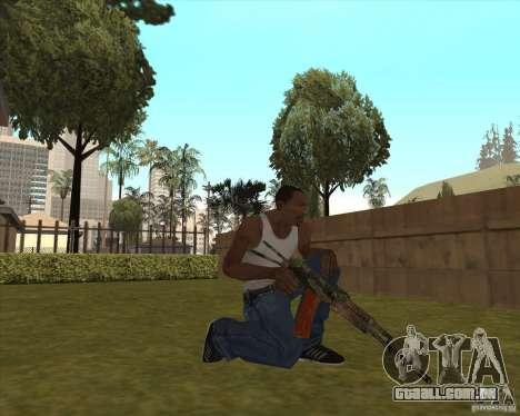 AK-74 com a textura de Metro 2033 para GTA San Andreas terceira tela