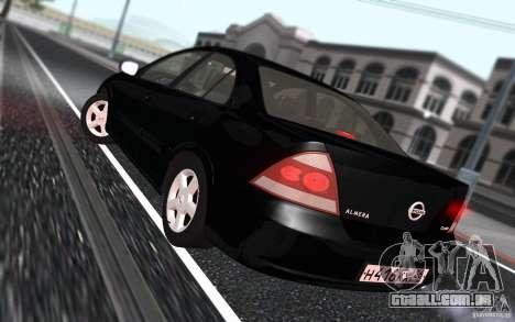 Nissan Almera Classic para GTA San Andreas vista interior