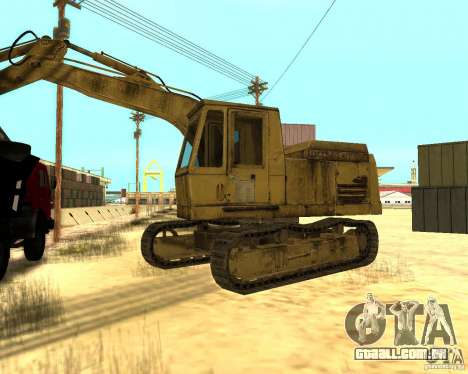 Máquina escavadora para GTA San Andreas esquerda vista