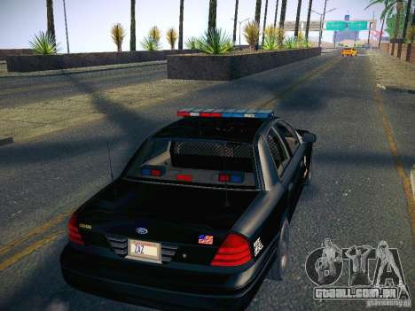 Ford Crown Victoria Police Intercopter para GTA San Andreas vista interior