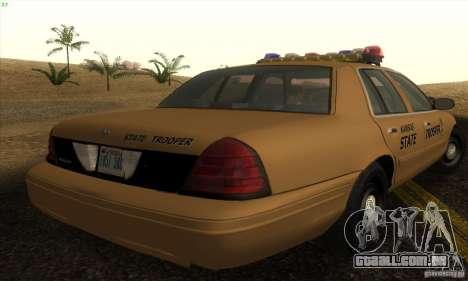 Ford Crown Victoria Kansas Police para GTA San Andreas esquerda vista