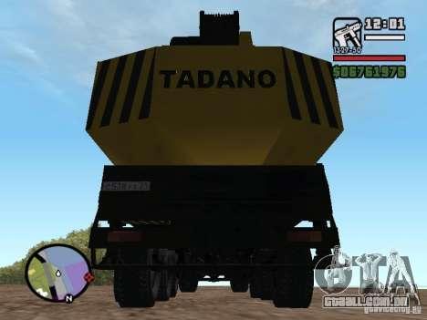 KrAZ-250 MKAT-40 para GTA San Andreas vista interior