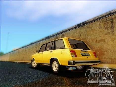 VAZ 2104 táxi para GTA San Andreas traseira esquerda vista