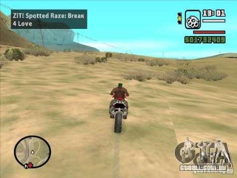ZiT para GTA San Andreas por diante tela