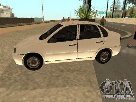 Lada Kalina para GTA San Andreas esquerda vista