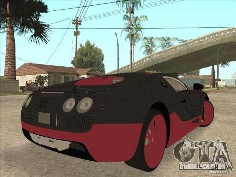 Bugatti Veyron Super Sport para GTA San Andreas vista inferior