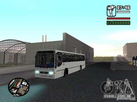Busscar Urbanus SS Volvo B10M para GTA San Andreas esquerda vista