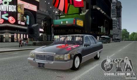 Cadillac Fleetwood 1993 para GTA 4 traseira esquerda vista