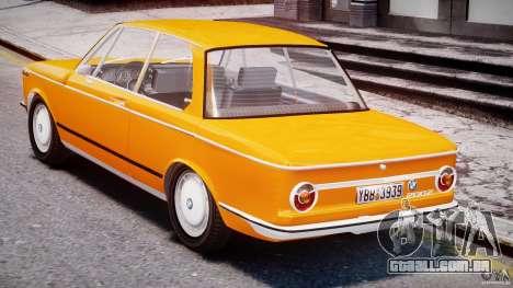 BMW 2002 1972 para GTA 4 vista direita