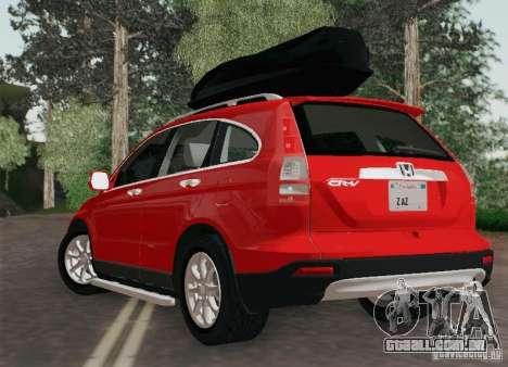 Honda CRV 2011 para GTA San Andreas esquerda vista