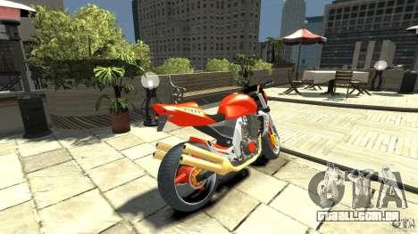 Kawasaki Z1000 para GTA 4 traseira esquerda vista