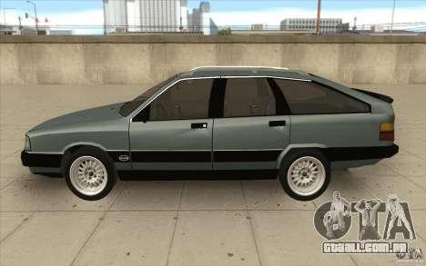 Audi 100 Avant Quattro para GTA San Andreas esquerda vista