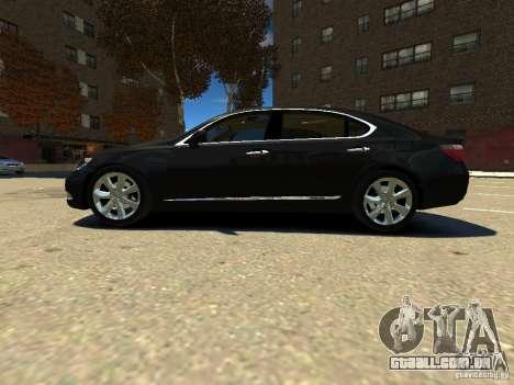 Lexus LS600 V2.0 para GTA 4 esquerda vista