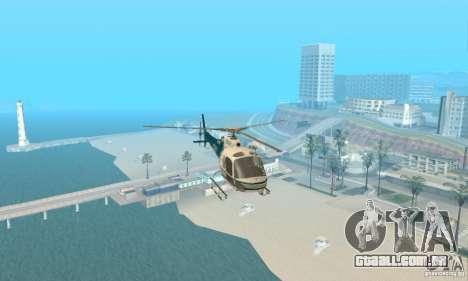 AS350 Ecureuil para GTA San Andreas vista interior