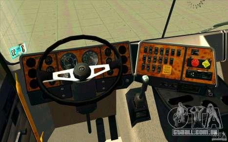 Navistar International 9800 para GTA San Andreas vista traseira