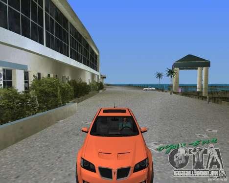 Pontiac G8 GXP para GTA Vice City vista direita