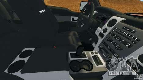 Ford F-150 SVT Raptor para GTA 4 vista inferior