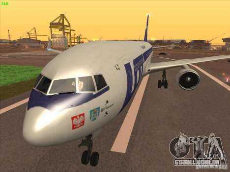 Boeing 767-300 LOT Polish Airlines para GTA San Andreas traseira esquerda vista