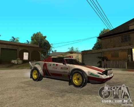 Lancia Stratos para GTA San Andreas vista direita