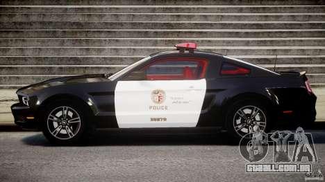 Ford Mustang V6 2010 Police v1.0 para GTA 4 esquerda vista