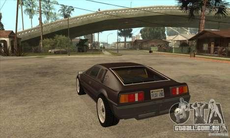 Lotus Esprit S3 para GTA San Andreas traseira esquerda vista