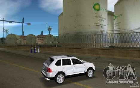 Porsche Cayenne para GTA Vice City vista direita