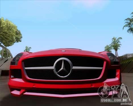 Mercedes-Benz SLS AMG V12 TT Black Revel para GTA San Andreas traseira esquerda vista