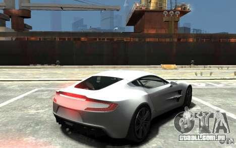 Aston Martin One 77 para GTA 4 vista direita