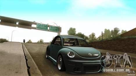 Volkswagen Beetle RSi Tuned para GTA San Andreas vista traseira