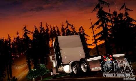 Freightliner Classic XL para GTA San Andreas traseira esquerda vista