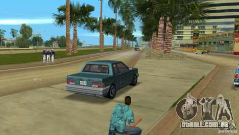 Manana HD para GTA Vice City vista traseira esquerda