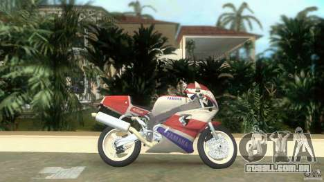 Yamaha FZR 750 white lighted para GTA Vice City deixou vista