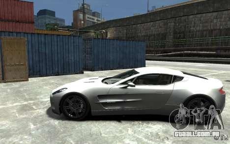 Aston Martin One 77 para GTA 4 esquerda vista