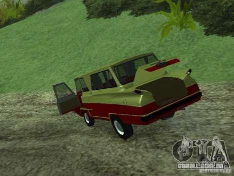 Veículo iniciar v 1.1 para GTA San Andreas vista traseira