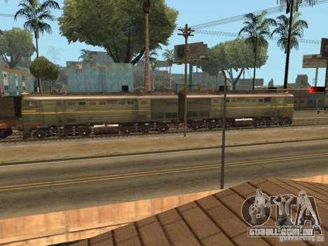 2te10l locomotiva diesel para GTA San Andreas esquerda vista