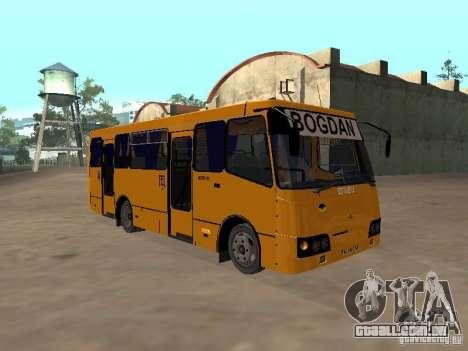 BOGDAN UM 09202 para GTA San Andreas traseira esquerda vista