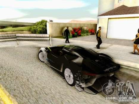 Citroen GT Gymkhana para GTA San Andreas esquerda vista