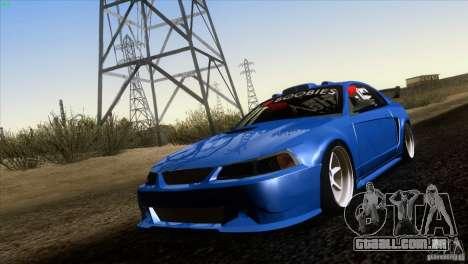 Ford Mustang GT 1999 para GTA San Andreas esquerda vista