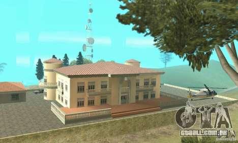 Uma Villa para GTA San Andreas por diante tela