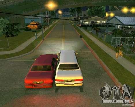 Elegant Limo para GTA San Andreas vista traseira