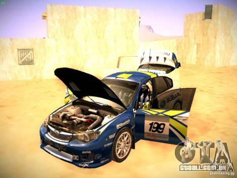 Subaru impreza Tarmac Rally para vista lateral GTA San Andreas