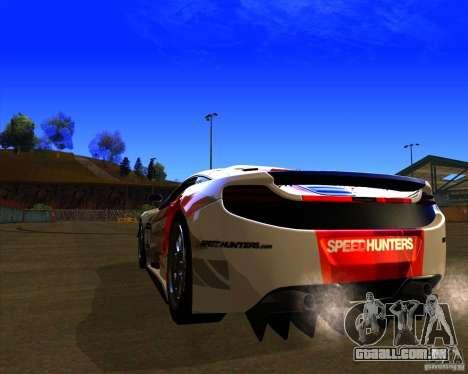 McLaren MP4 - SpeedHunters Edition para GTA San Andreas traseira esquerda vista