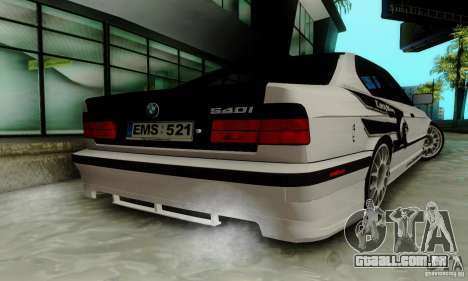 BMW E34 540i Tunable para vista lateral GTA San Andreas