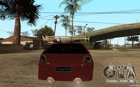 Volkswagen Golf GTI 3 Tuning para GTA San Andreas traseira esquerda vista