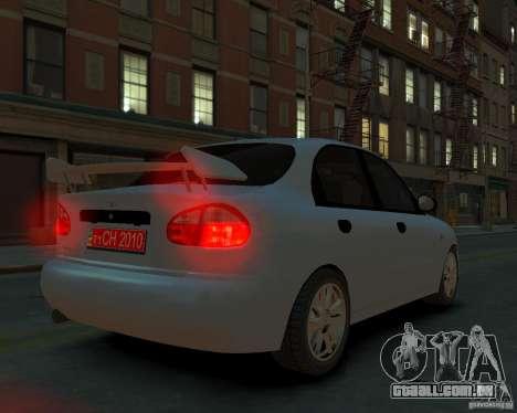 Daewoo Lanos para GTA 4 esquerda vista