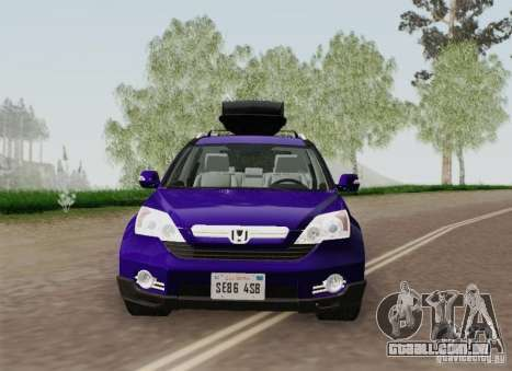 Honda CRV 2011 para GTA San Andreas vista superior